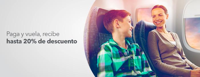 Volaris: 20% de descuento adicional pagando con tarjeta banco azteca
