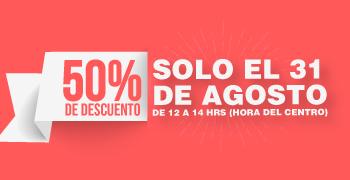Outlet Mabe: 50% de descuento en toda la tienda (31 de Agosto de 12 a 14 hrs)