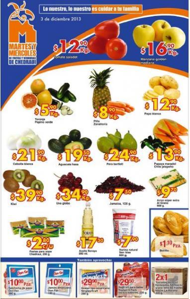 Ofertas de frutas y verduras en Chedraui diciembre 3 y 4: tomate $12.90 y más