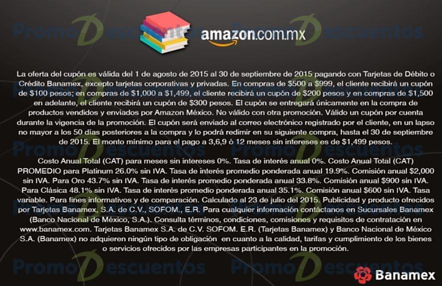 Amazon: nuevo cupón de hasta $300 pagando con Banamex