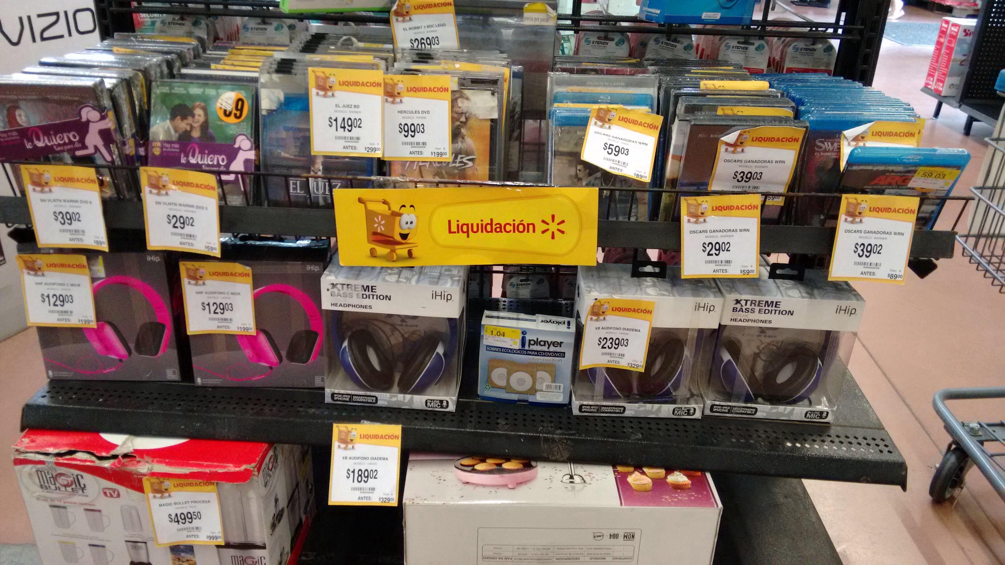 Walmart películas en remate