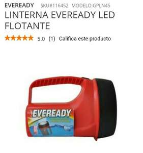 Home Depot: LINTERNA EVEREADY LED FLOTANTE
