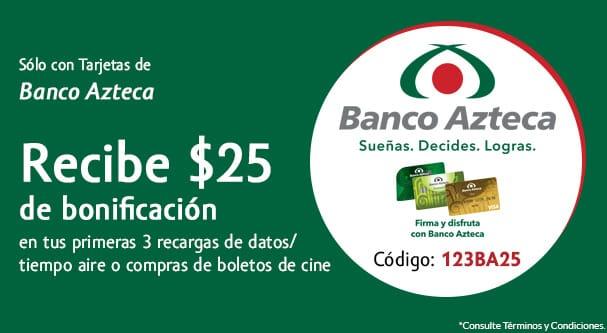 Undostres: $25 de bonificación en tus primeras 3 recargas (pagando con Banco Azteca)