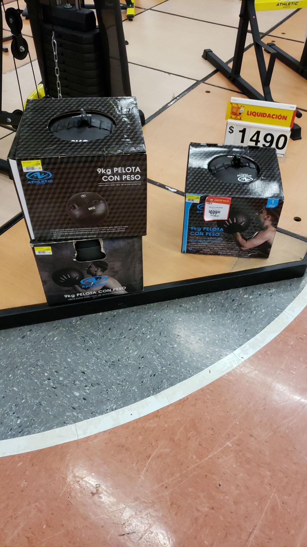 Walmart: Pelota con peso 9kg y más