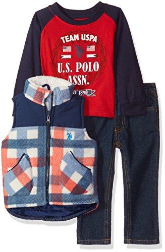 Amazon: U.S. Polo Assn. - Juego Ropa, Varones 2 años Color Rojo