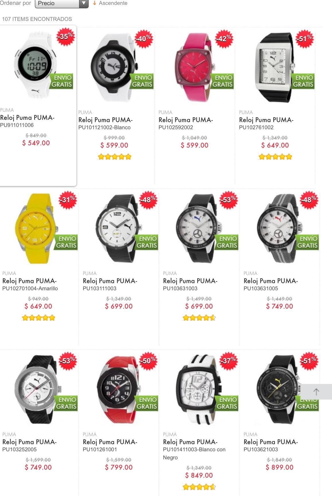 Linio: relojes Puma desde $549 y envío gratis