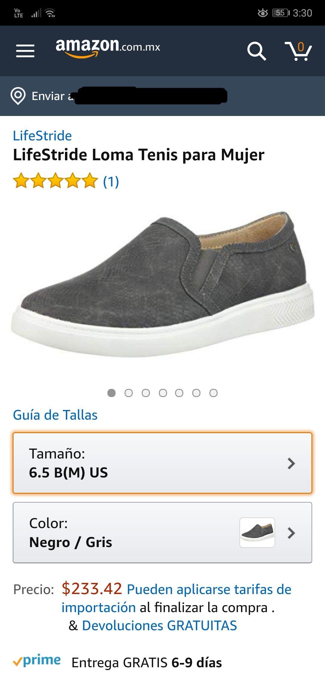 Amazon: LifeStride Zapato para Mujer (6.5 USA)