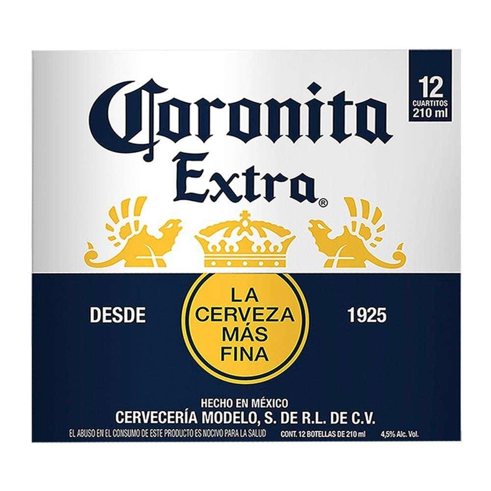 Superama: Cerveza clara Coronita extra 12 botellas de 210 ml c/u (3x$220) ó Cerveza oscura Victoria 12 botellas de 210 ml c/u (3X$220)