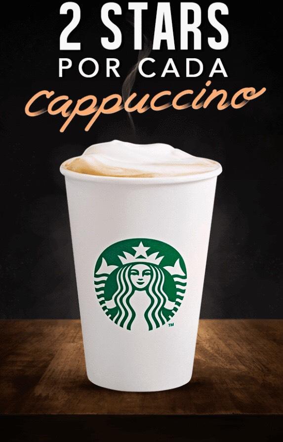 Starbucks: 2 Stars en capuchinos