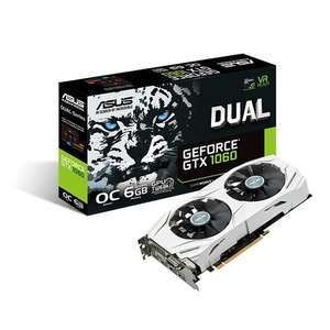 Amazon: ASUS DUAL GeForce GTX1060 6GB 1809 MHz boost Clock