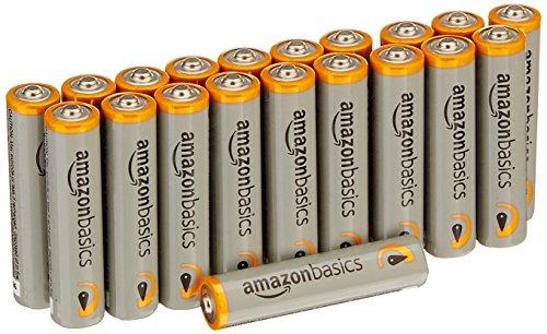 Amazon: 20 Baterías alcalinas AAA de alto rendimiento AmazonBasics