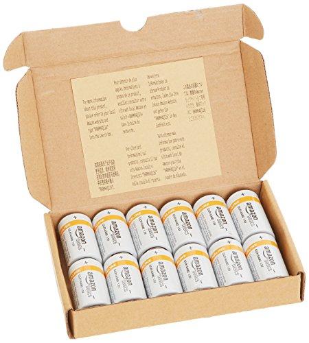Amazon: 12 Baterías Alcalinas Tipo C Amazon Basics