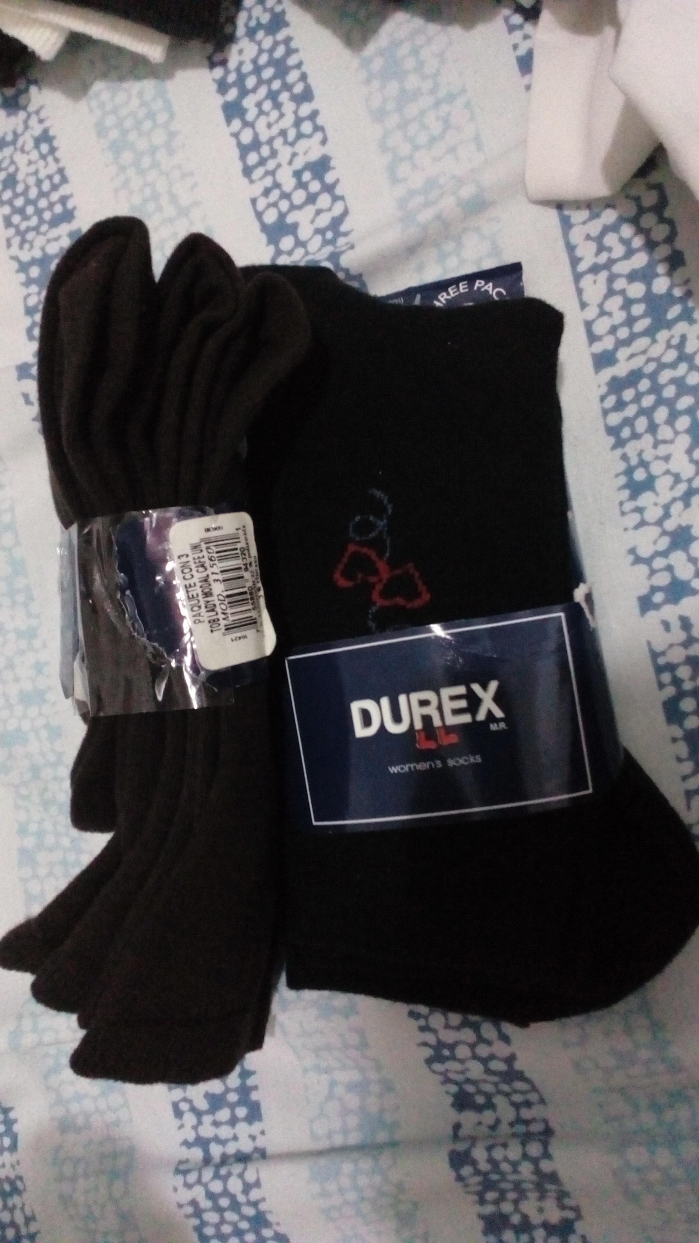 Walmart paquete de 3 calceta DUREX