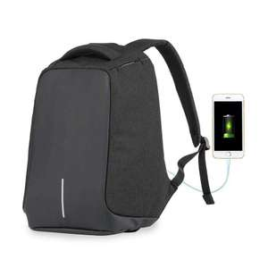 Claroshop: Mochila Backpack Antirrobo Impermeable, con Puerto USB
