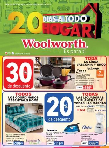 Woolworth: 20 Días a Todo Hogar: Descuentos del 20% y 30% en diversos artículos por todo el depto. de hogar