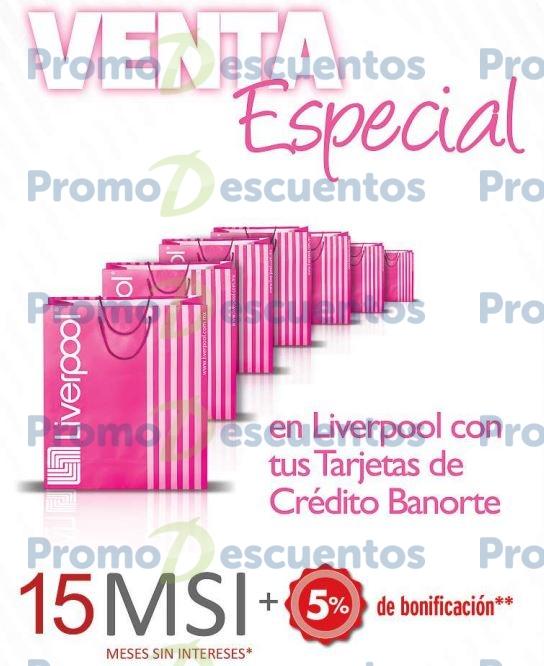 Liverpool: venta especial Banorte IXE