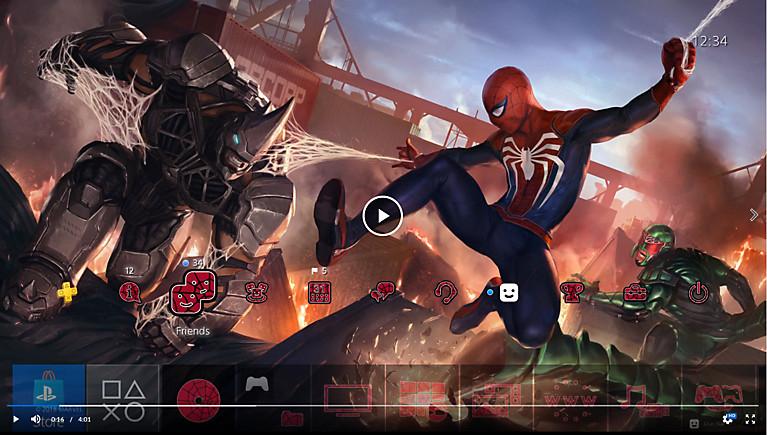 Playstation Store: Tema dinámico de Spiderman (gratis)
