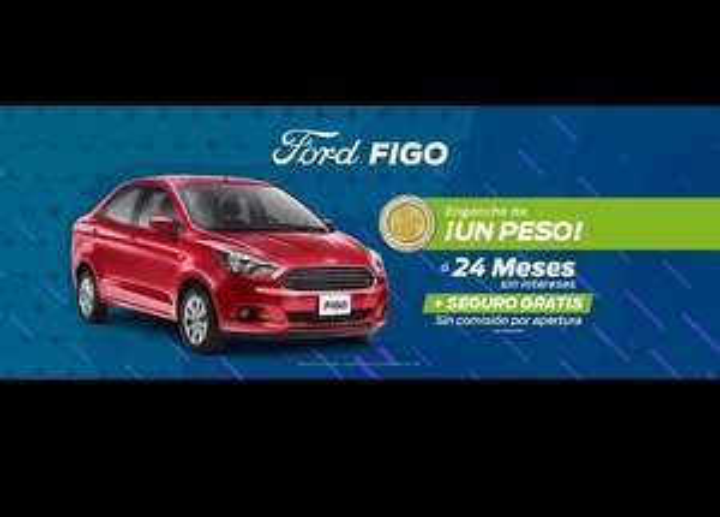 Ford Pasa Torreón: $1 peso de enganche en Figo Impulse sedan 2018