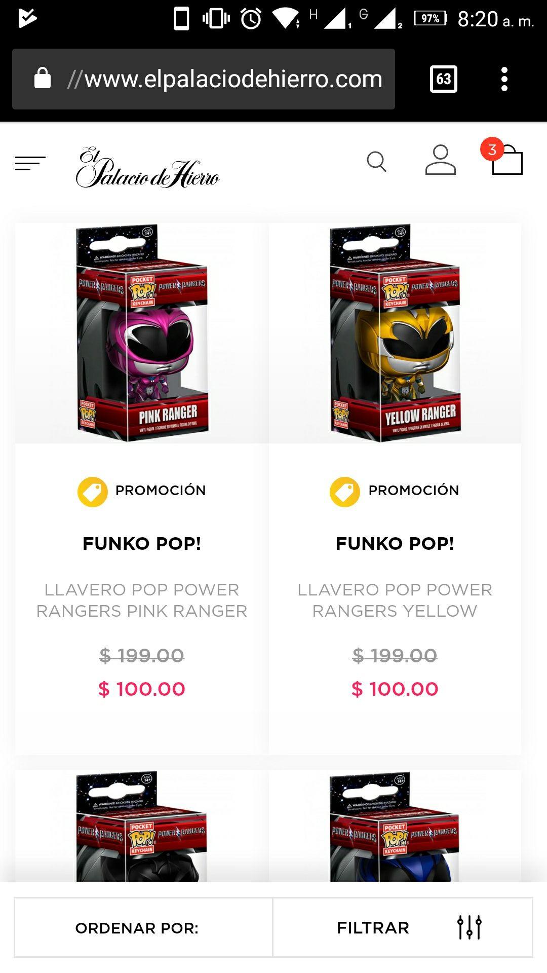 Palacio de Hierro: Funko pop! Desde 100