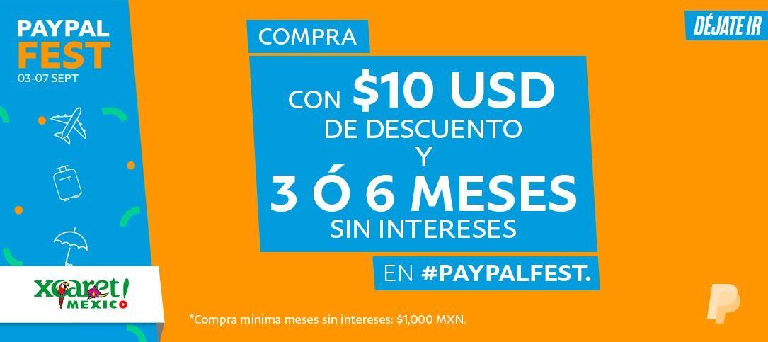 Xcaret Park: 10 o 15% de descuento más $10USD de descuento adicional, más hasta 6MSI al pagar con PayPal