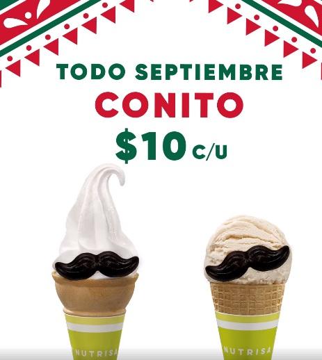 Nutrisa: cono helado suave o bola a $10 pesos