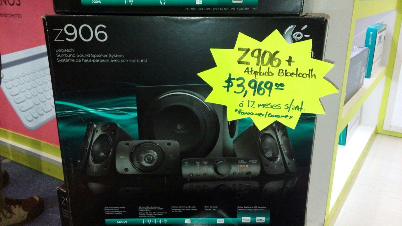Feria de la tecnología (DF): Z906 Logitech $3969 y adaptador bluetooth regalo