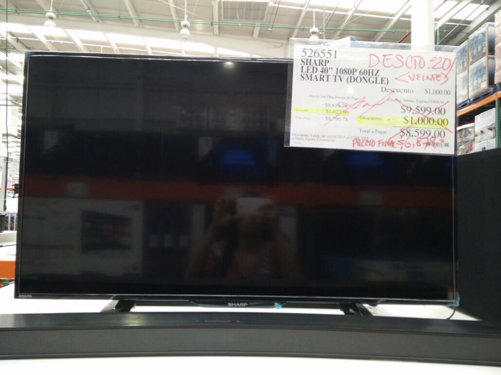 "Costco: Smart TV Sharp Aquos LED 40"""