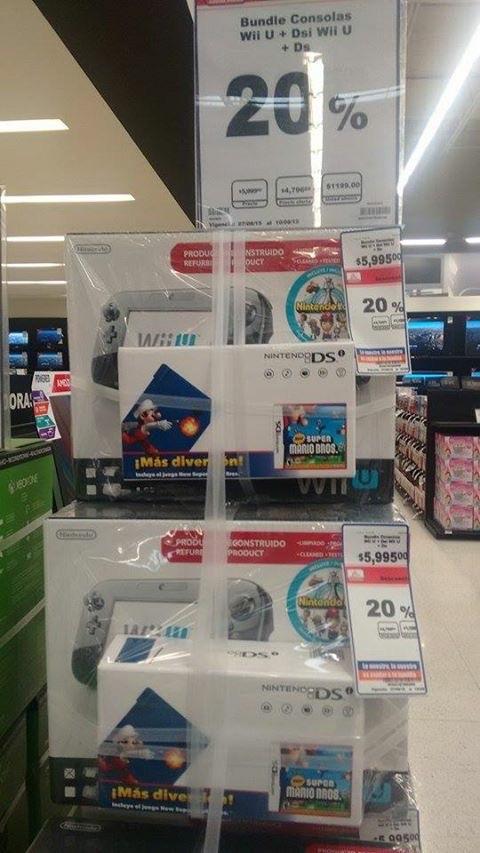 Chedraui: Nintendo Wii U (Reconstruido) y Nintendo DS con Super Mario Bros a $4,796