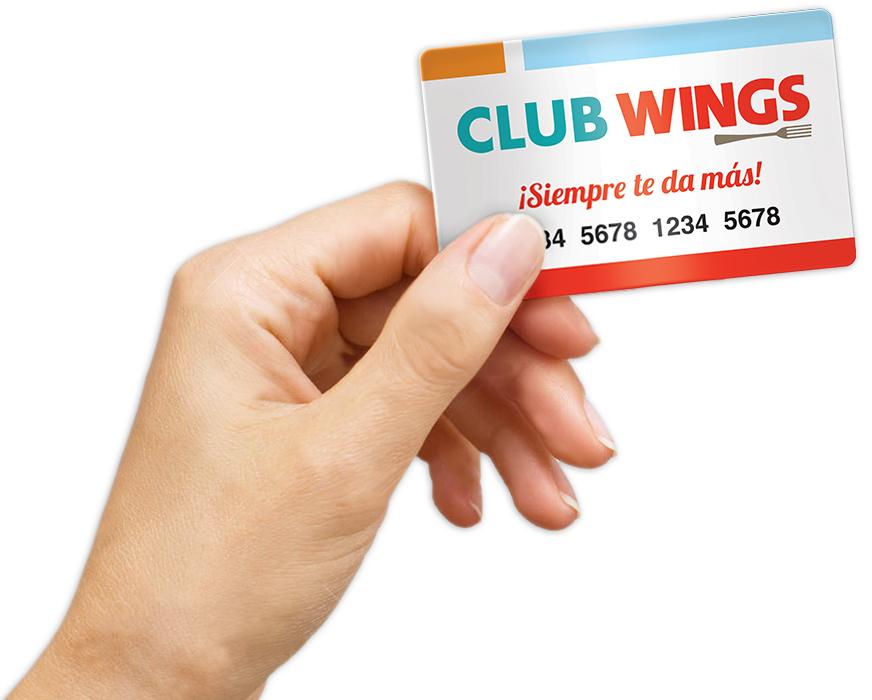 Wings: Tarjeta Club Wings GRATIS con 120 pesos Pre-cargados