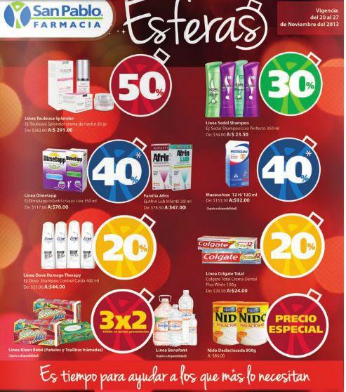 Farmacias San Pablo: 3x2 en Saba, pañales Huggies, 2x1 en preservativos PlayBoy y +