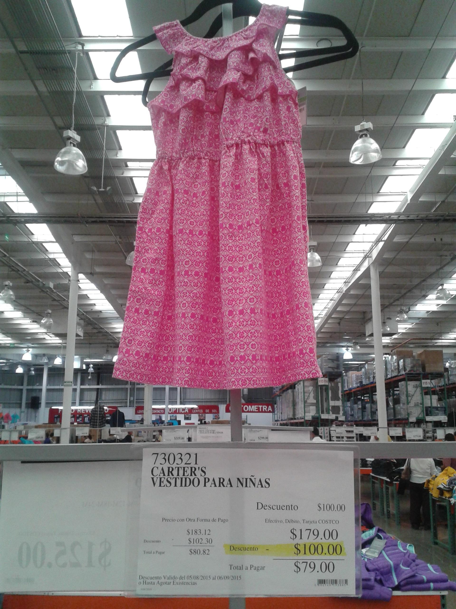 Costco: Vestido para niñas Carter's a $79 y más