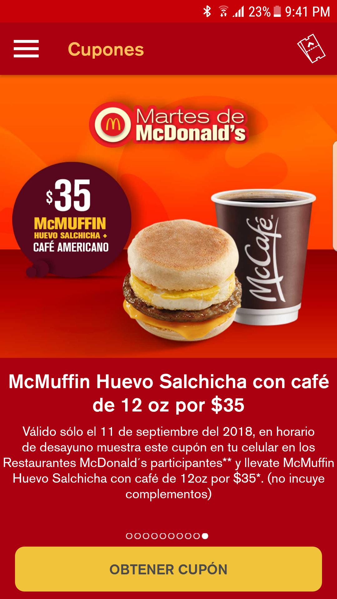 McDonald's: Martes de desayuno
