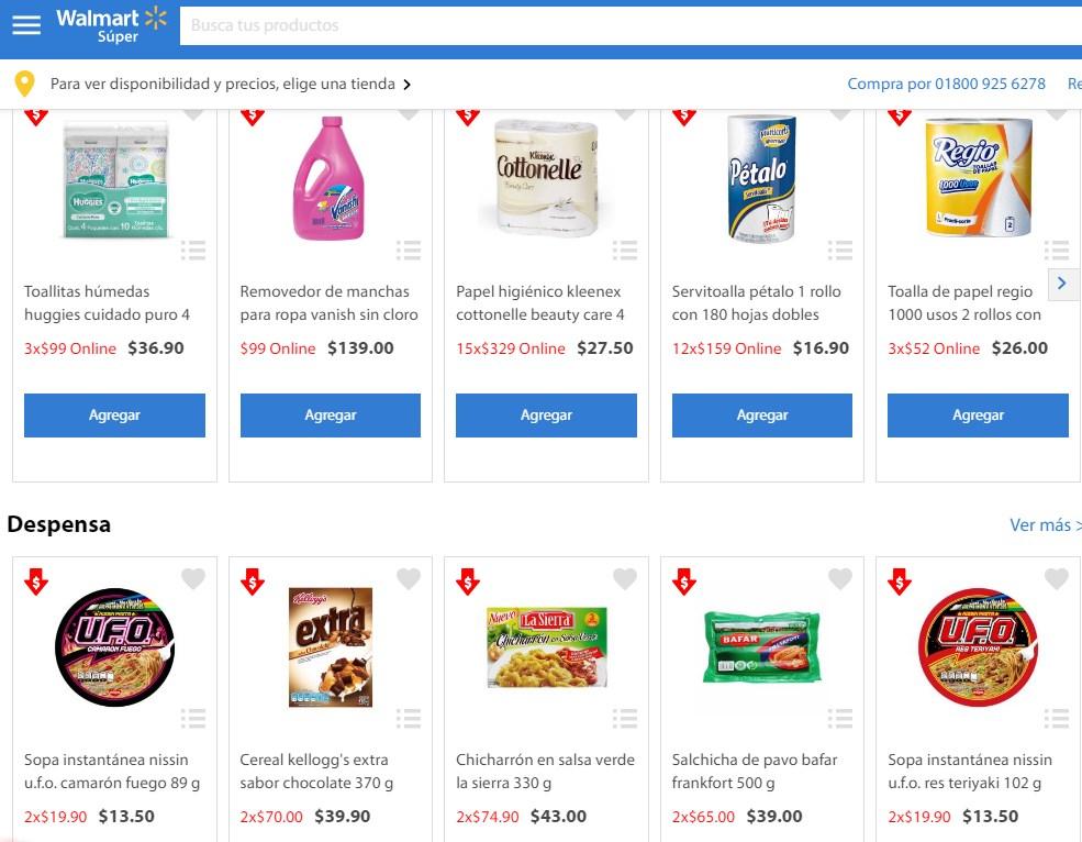 Walmart super: rebajas online ejem. vanish 4L por 99 y más
