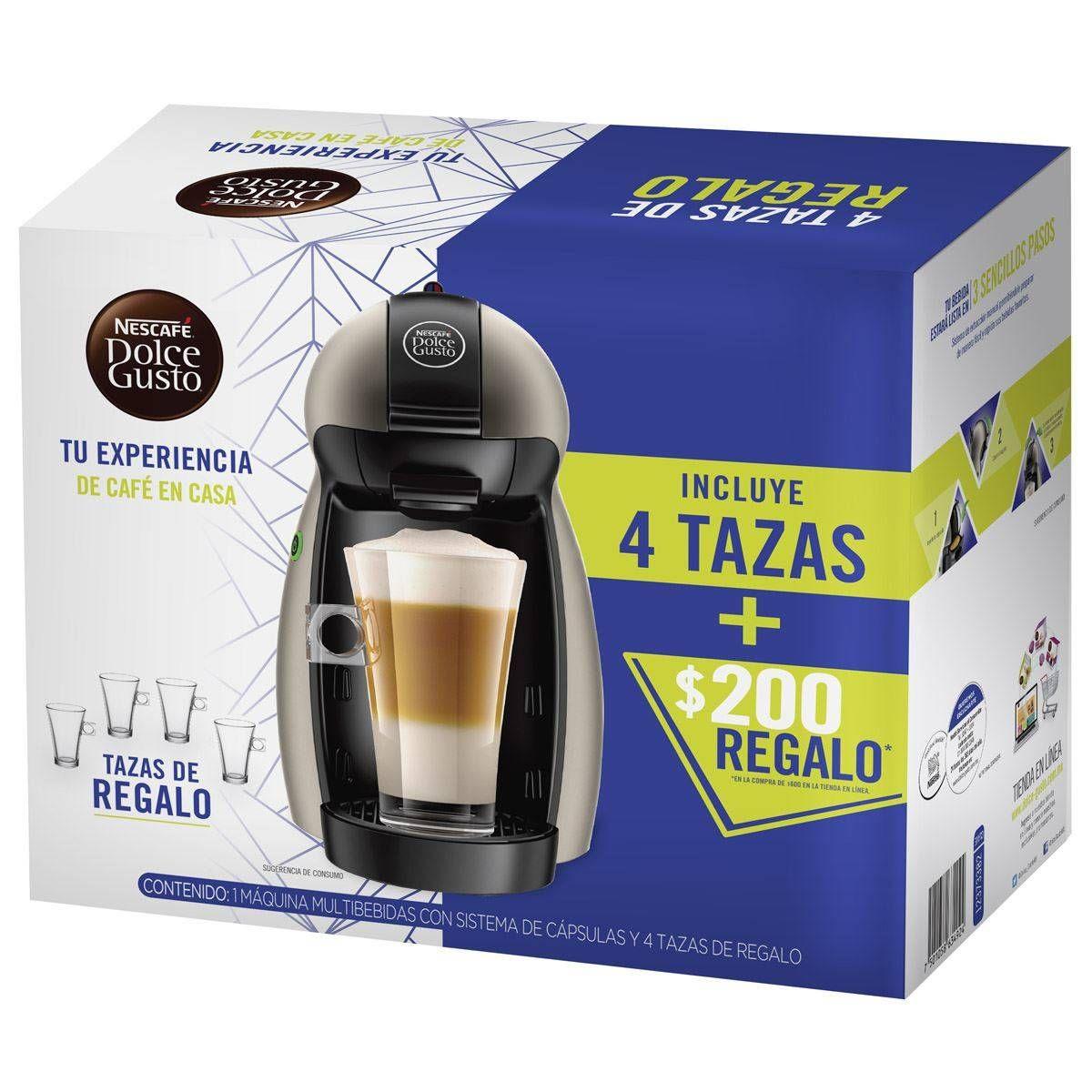 Claroshop: Cafetera Dolce Gusto + 4 tazas de regalo + $200 de regalo