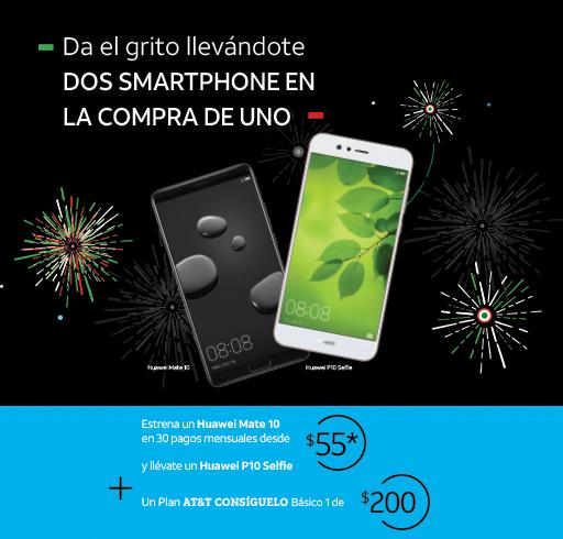 At&t: Plan x 30M: Huawei Mate 10 + Huawei P10 Selfie
