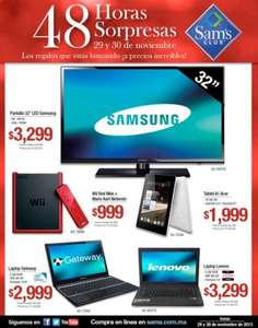 Black Friday Sam's Club México: Wii $999, laptop con 4GB de RAM $3,299 y más