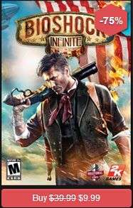 Ofertas Black Friday en GameFly (juegos de PC): BioShock Infinite $10 dólares y +