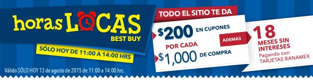 BESTBUY ONLINE, HORAS LOCAS DE 11:00 A 14:00 HOY!! CON BANAMEX