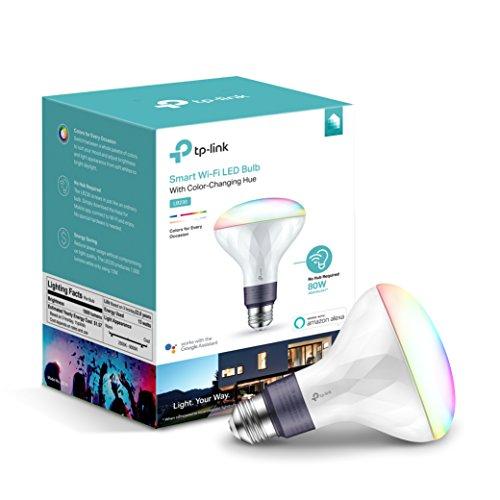 Amazon: Foco de luz, Wi-Fi, BR30, Multicolor, Tp-link compatible con Alexa y google home