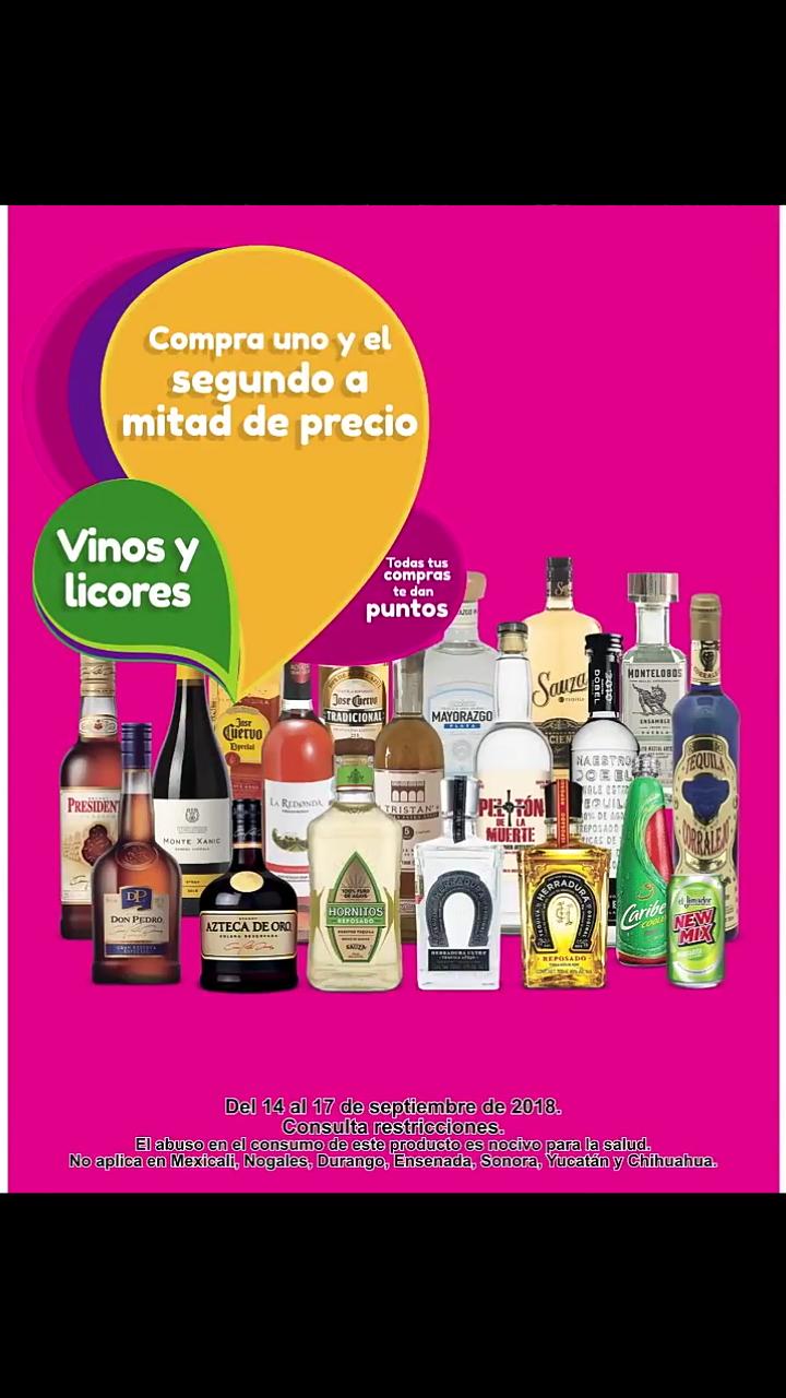 Soriana Hiper, Súper y MEGA: 2x1 1/2 en vinos y licores este fin de semana