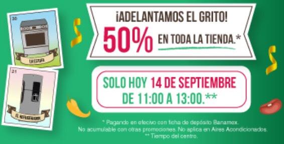 Tienda Mabe: 50% de descuento en toda la tienda (14 de Septiembre de 11 am a 1 pm)