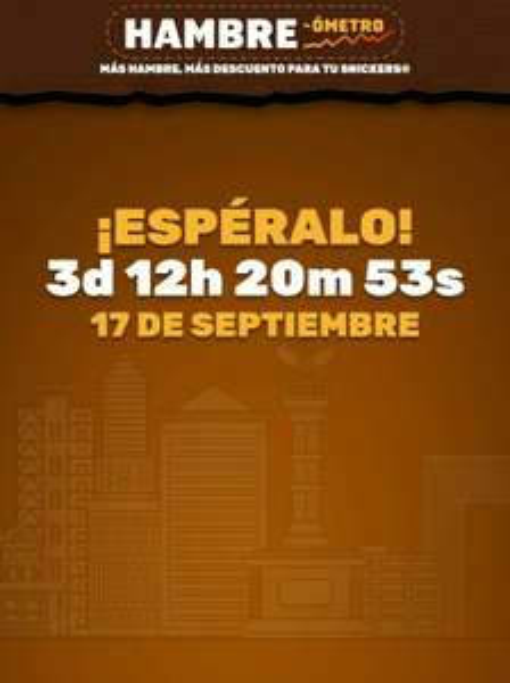 Hambreómetro: Snickers gratis (a partir del 17 de Septiembre)