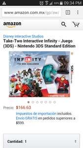 Amazon: Starter Pack Disney Infinity 3ds a $166.63