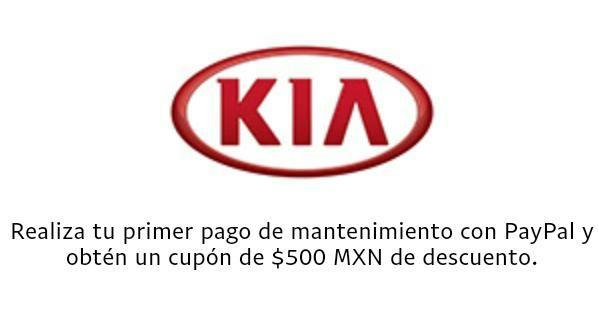 Kia México: Cupón de $500 si pagas el servicio de mantenimiento con PayPal