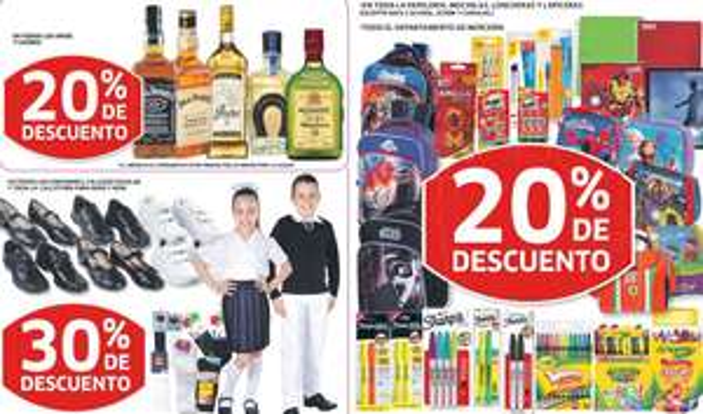 Soriana: 20% de descuento en papelería, 30% en uniformes, 3x2 en Choco Milk y más