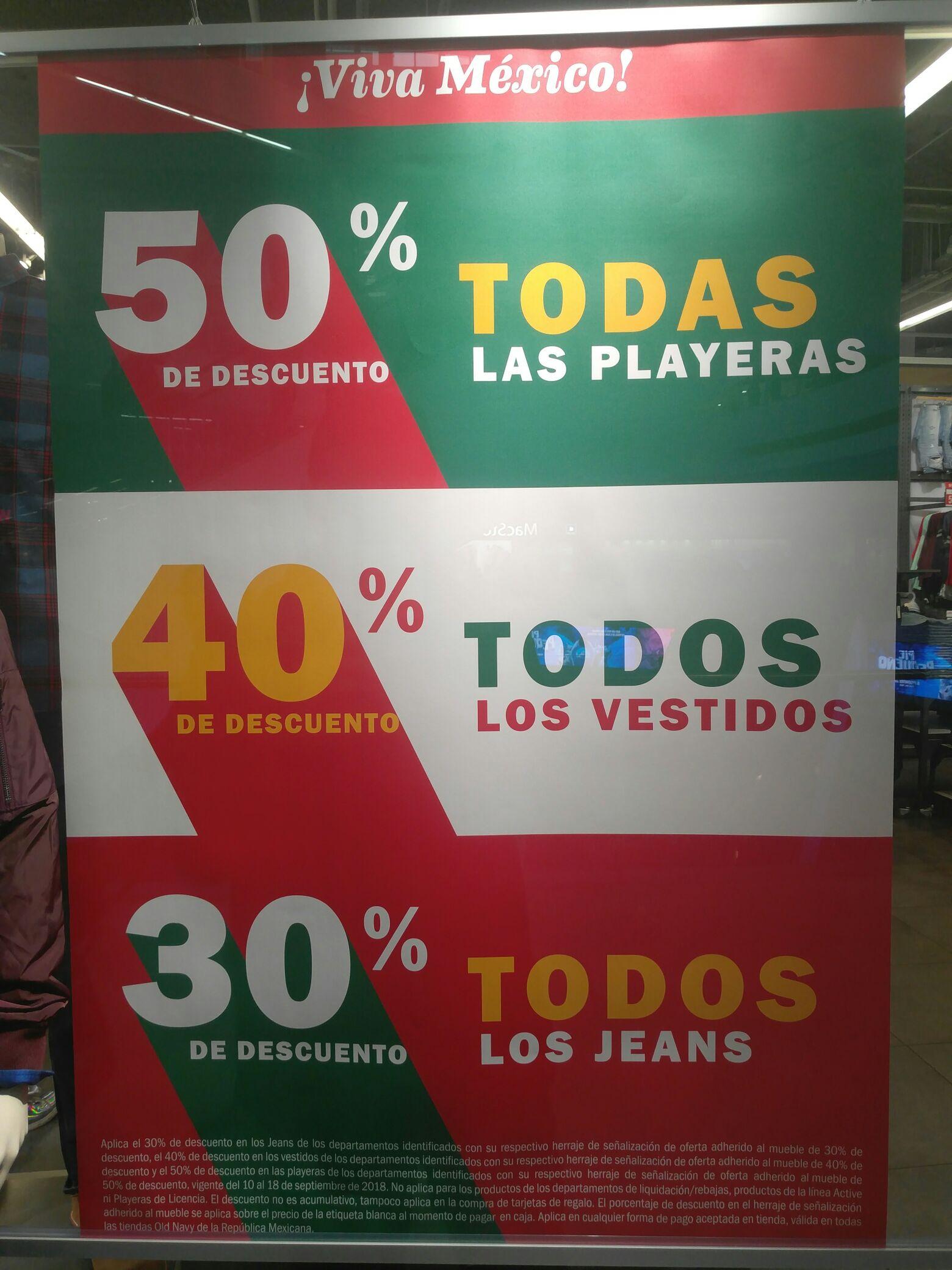 OLD NAVY Forum Buenavista: Promociones hasta 50% de descuento
