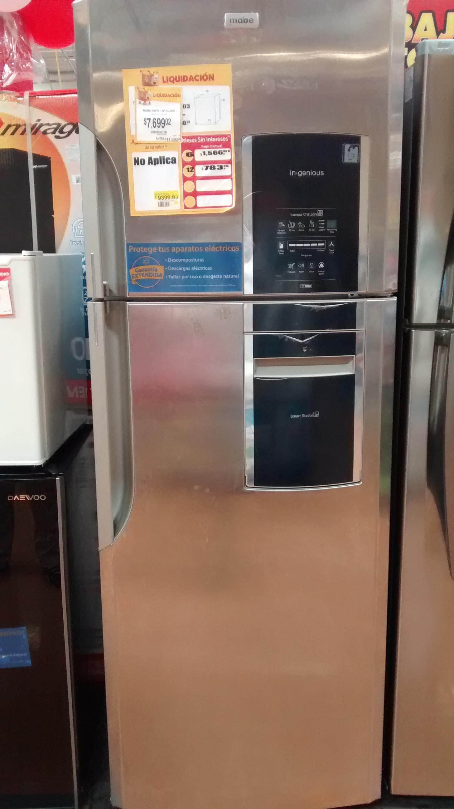 Walmart: Refrigerador Mabe 15' a $7,699.02