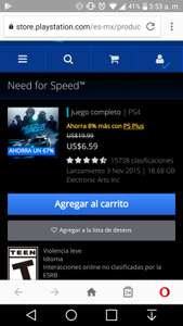 PSN: Need for speed, street fighter v, tomb raider,  Playstation store