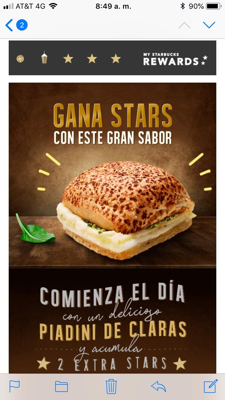 Starbucks: Torta de huevo = 3 Estrellas!!