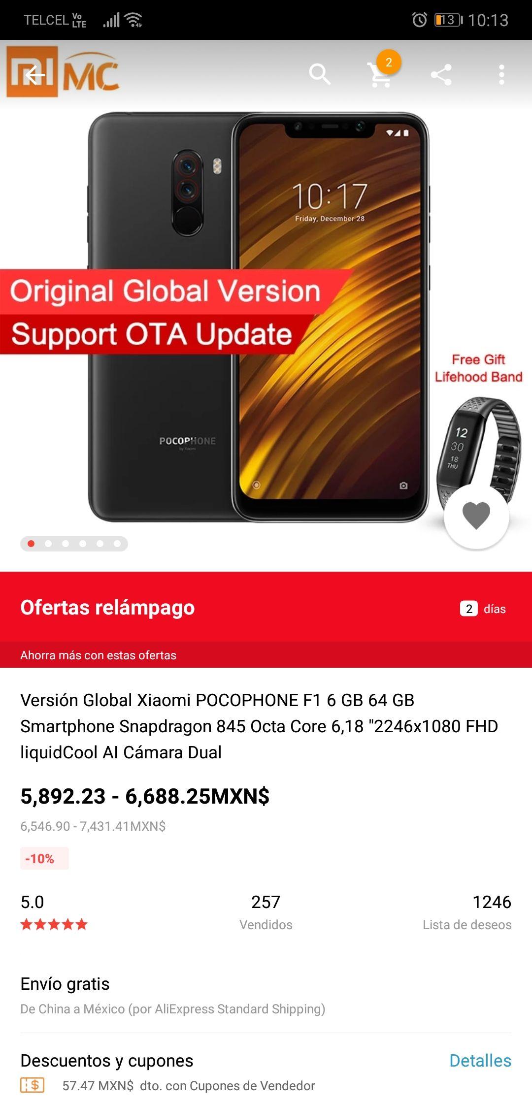 aliexpress: Xiaomi Pocophone F1